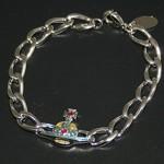 vw-enamel-orb-bracelet-silver